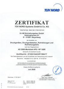 Zertifikat AD 2000 Merkblatt