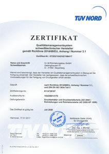 Zertifikat Qualitätsmanagement bis 2020