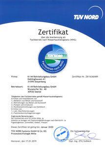 Zertifikate WHG 2020
